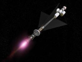 Mars Courier Mission, Earth-Orbit Escape Burn by William-Black