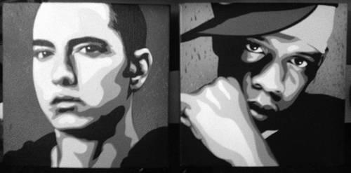 Eminem and Jay-z by messymedia