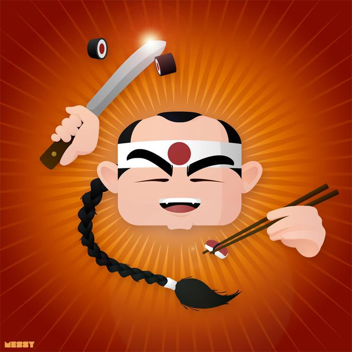 Sushi guy by messymedia