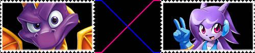 Spyro X Lilac/Liro stamp by FlainYesFourzeNo