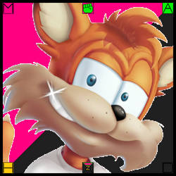 (F2U JUMBO ICON) Bubsy (Hunter-Action (Fang)) by FlainYesFourzeNo