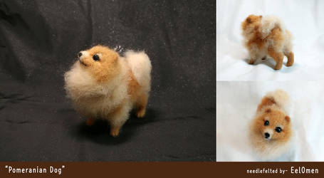 Pomeranian dog- needlefelted by EelOmen