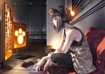 cyberpunk girl by Oligarch23