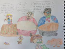 The full house gang vs. gramma stuffum by tanasweet123
