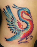 Bird tattoo by OsaWahn