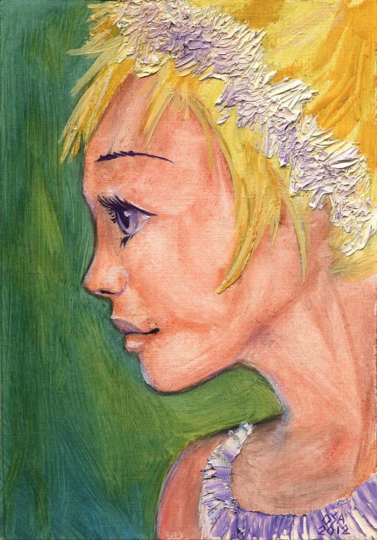 Portrait of a little girl by OsaWahn