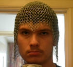 Chainmail coif by theboss2