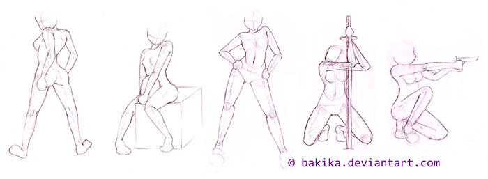Pose study 01 by bAkiKA