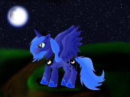 Young Princess Luna by CalebP1716