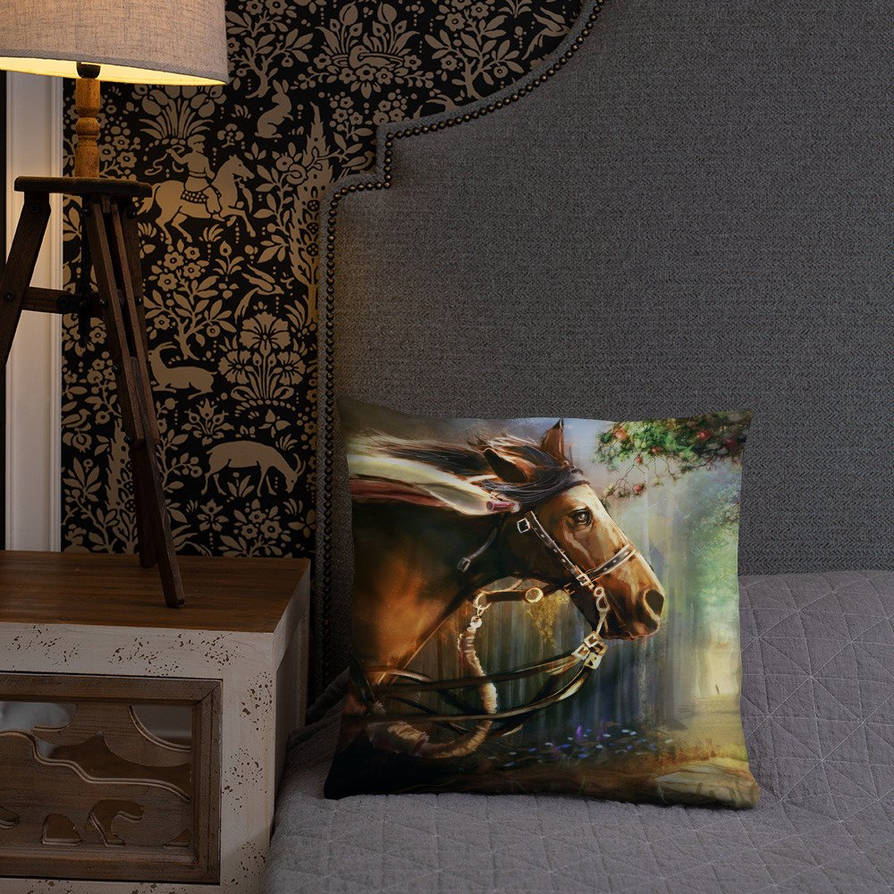 Horse of Beauty Square Pillow