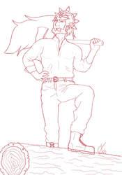 Lumberjack Ganon by Cristal-Knight