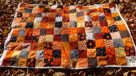 Halloween quilt by eightcrows