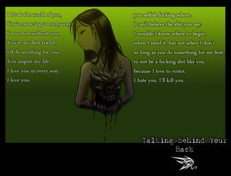 Talking Behind Your Back by darthhorus