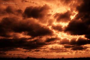 Burning sky by iuli72an