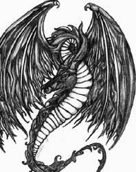 Tribal Dragon by DzdNCnfzd
