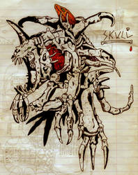 SkullGreymon by Lycanstrife