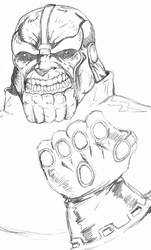 DSC Thanos Sketch by ntholden