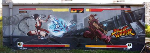 street writer by Dilom