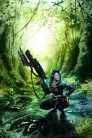 Commision Nightelf Hunter II by MonkeyfroG