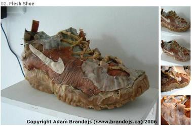 Animatronic Flesh Shoe 2004 by brandejs