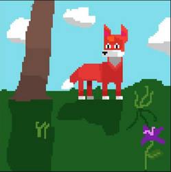 Pixel fox by IDrawCiggaretteOCs