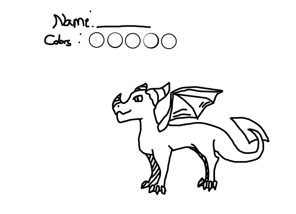 Free Dragon Ref Sheet by IDrawCiggaretteOCs