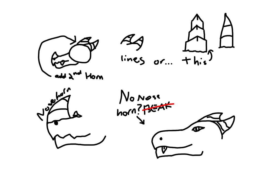 Help with dragon horns (head) by IDrawCiggaretteOCs