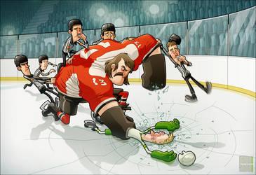 Hockey Night by MathieuBeaulieu