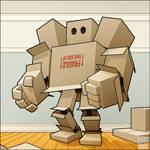 Cardboard Man by MathieuBeaulieu