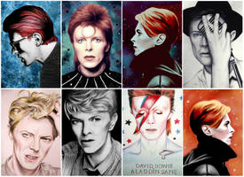Some of my BOWIE drawings / paintings by love-a-lad-insane