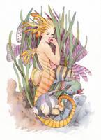 Little Mermaid by wovenlines