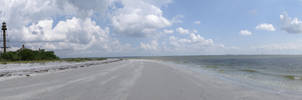 Walking the Beach Panorama by Soulkreig