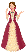 Belle Enchanted Christmas gown by musicmermaid