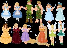 Disney Characters vs. Fairytale Characters II by musicmermaid