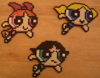 Powerpuff Girls perler by m0n0xide20