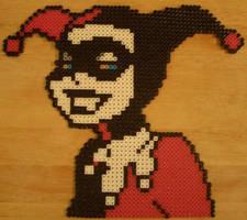 Harley Quinn Perler Art by m0n0xide20