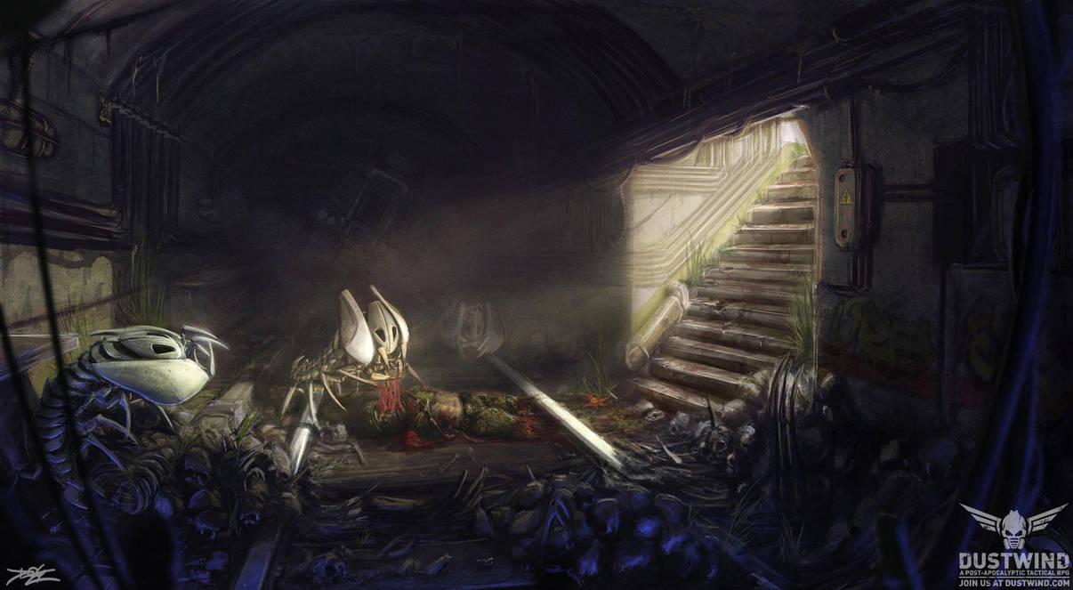 Crawler robot lair by Hydraw-Art