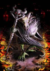 Kobold Necromancer by Luaprata91