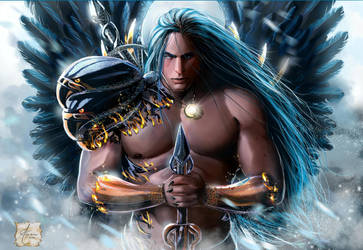 Azey The Blue Warrior by Luaprata91