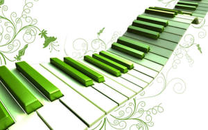 Piano keys all wavy and green by paulwesley222