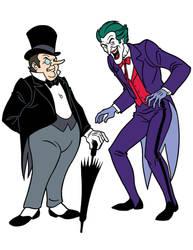 Scooby-Doo Encyclopedia: Joker + Penguin by TimLevins