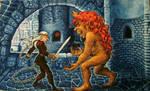 Witcher vs Striga by vilva73