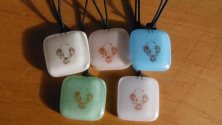 Cat skull -pendants by Akitainu96