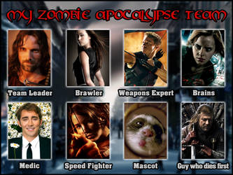 My Zombie Apocalypse Team by GeorgeWiseman