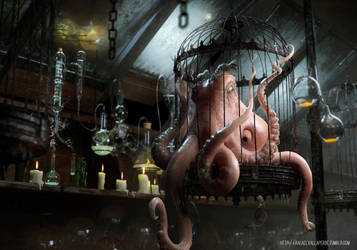 Evil Octopus by RafaelVallaperde