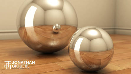Chrome W blur - 3ds Max by RahasQc