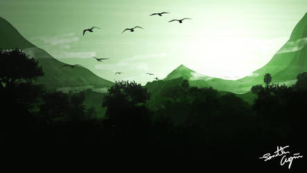 Flat Landscape Wallpaper 2 by RahasQc