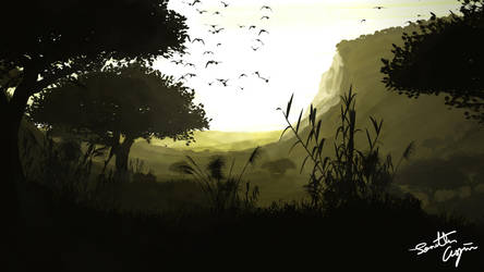 Flat Landscape Wallpaper 4 by RahasQc