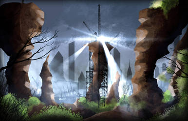Concept Art - Industrial city border by RahasQc