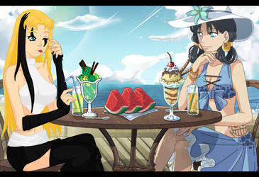 Merry and Lin One Piece Collab^^ by Shaki-chan